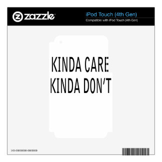 care iPod touch 4G decal