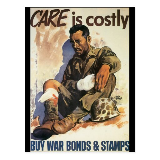 Care Is Costly World War 2 Postcards