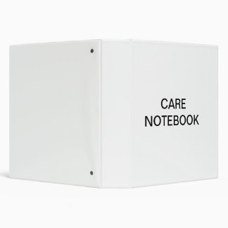 Care Notebook 3 Ring Binder