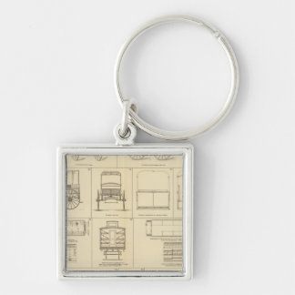 Care of sick, wounded Silver-Colored square keychain