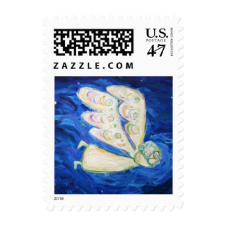 Care of the Soul Angel and Baby Art Postage Stamp