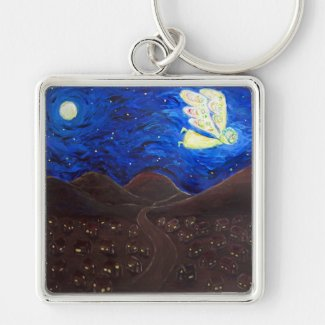 Care of the Soul Guardian Angel Art Keychain