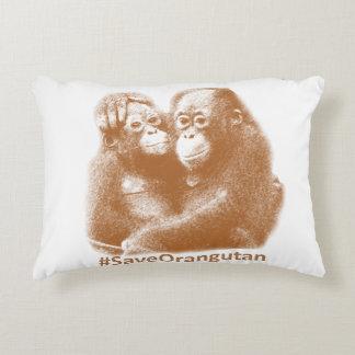 Care Orangutan Decorative Pillow