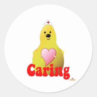 Care Pear Caring Classic Round Sticker