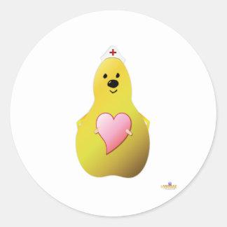 Care Pear Classic Round Sticker