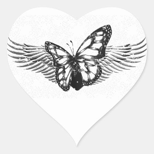 Care_ Pegatina En Forma De Corazón
