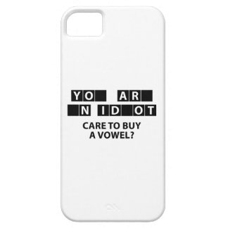 Care To Buy A Vowel? iPhone 5 Covers