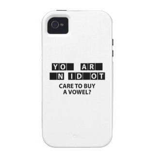 Care To Buy A Vowel? iPhone 4/4S Covers