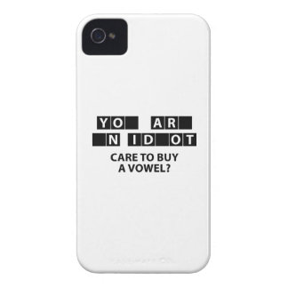 Care To Buy A Vowel? iPhone 4 Covers