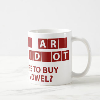 Care To Buy A Vowel? Coffee Mug