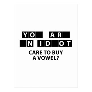 Care To Buy A Vowel? Postcard