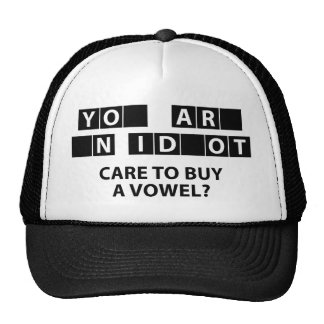 Care To Buy A Vowel? Trucker Hat