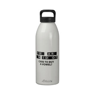 Care To Buy A Vowel? Water Bottles