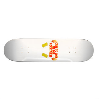 Care To Join Me For Molotov Cocktails Skateboard Deck