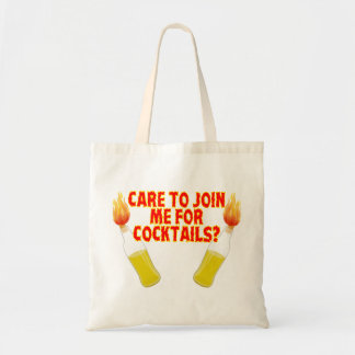 Care To Join Me For Molotov Cocktails Tote Bag
