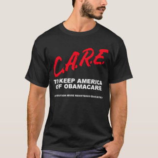 CARE (white print on dark) T-Shirt