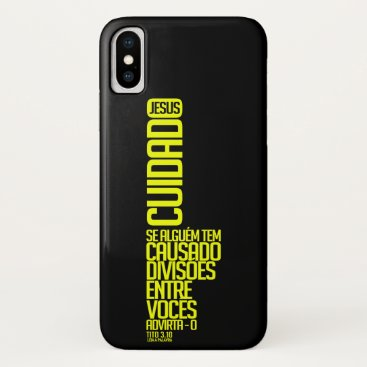 Care with the divisions iPhone x case