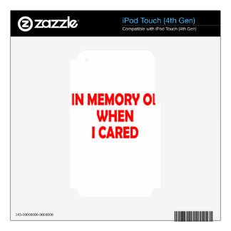 cared iPod touch 4G decal