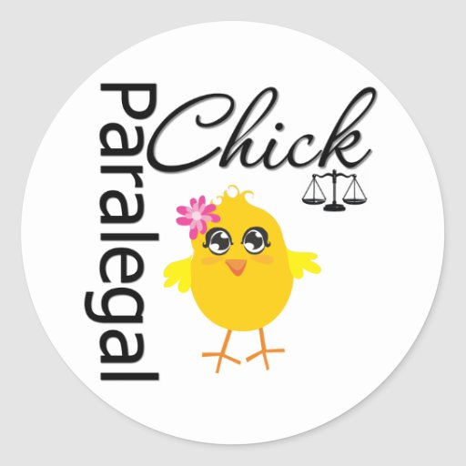 Career Chick Paralegal Classic Round Sticker