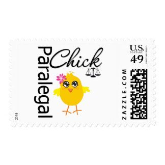 Career Chick Paralegal Postage Stamp