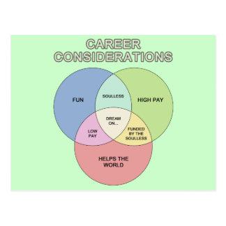 Career Consideration Postcard