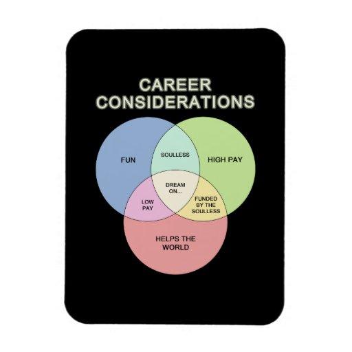 Career Consideration Vinyl Magnet