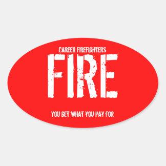 Career Firefighters Oval Sticker