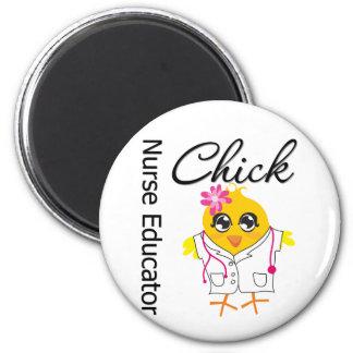 Career Nurse Chick - Nurse Educator 2 Inch Round Magnet