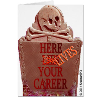 Career Tombstone Sepia Customizable Greeting Card