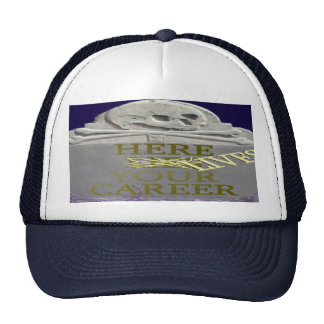 Career Tombstone Yellow Customizable Hat