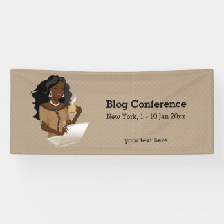 Career woman black hair banner