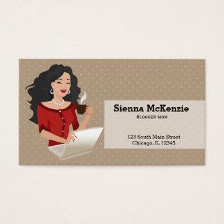 Career Woman black hair Business Card