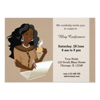 Career woman black hair card