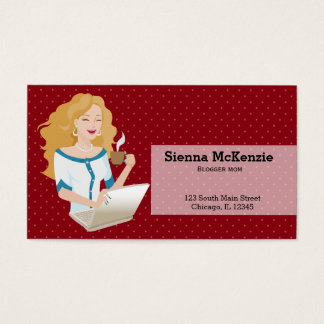 Career Woman blonde hair Business Card