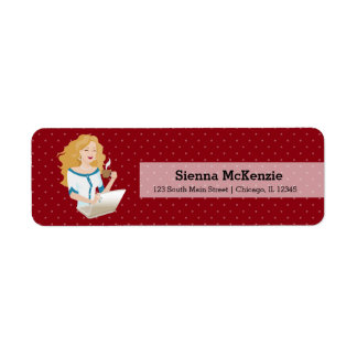 Career woman blonde hair label