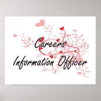 Careers Information Officer Artistic Job Design wi Poster