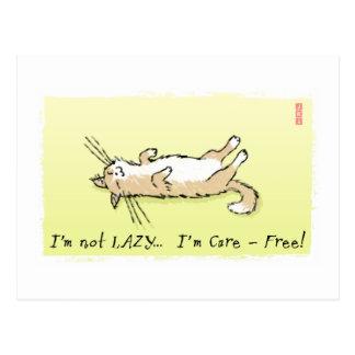 Carefree Cat Postcard