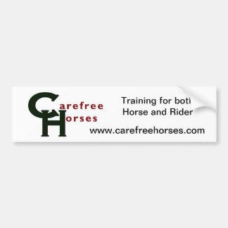 Carefree Horses Bumper Sticker Car Bumper Sticker