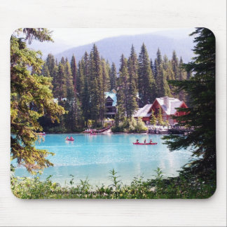 Carefree Moments in Life/Maligne Lake, Canada Mouse Pad