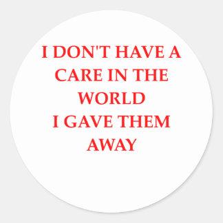 CAREfree Round Sticker