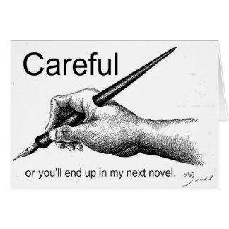 Careful! Greeting Card