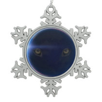 careful I look at you Snowflake Pewter Christmas Ornament