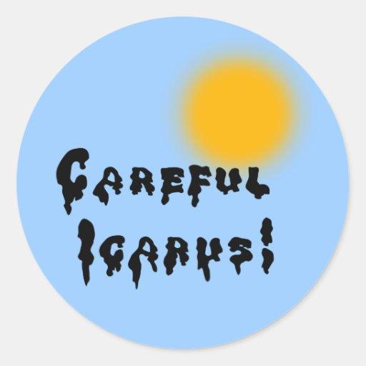 Careful Icarus! Stickers