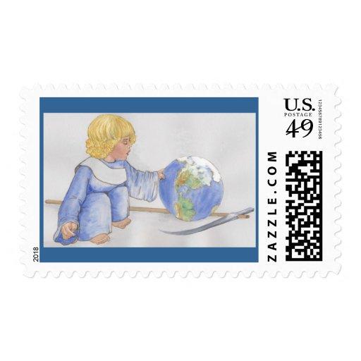 careful, little guy postage