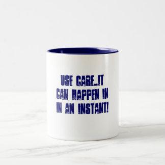 Careful Two-Tone Coffee Mug