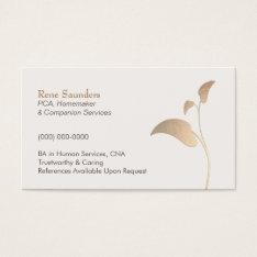 Caregiver and Companion Home Care Nurse Business Card at Zazzle