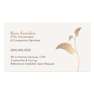 Caregiver and Companion Services Business Card