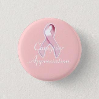 """""""Caregiver Appreciation"""" - Breast Cancer Awareness Button"""