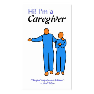 Caregiver Business Card template