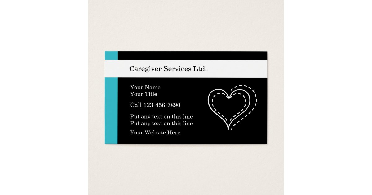 Caregiver Business Cards | Zazzle.com